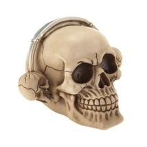 Rockin Headphone Grinning Skull Figurine - $11.30