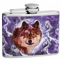 Mystical Wolf 4 oz Hip Flask - $7.98