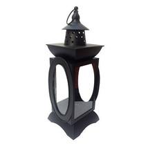 Darice Halloween Metal Lantern Candleholder: Black, 5.5 x 15.25 inches w - $28.99