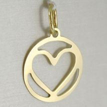 Pendant Gold Yellow or White 750 18k, Heart, finely worked, Made in Italy image 5