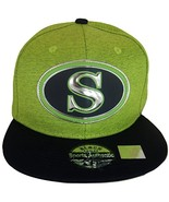 Seattle S Oval Style Cotton Snapback Baseball Cap (Lime/Navy) - $12.95