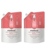 2 Pack Method Gel Hand Soap Wash Refill Pink Grapefruit 1 L (34 oz) Each  - $25.97