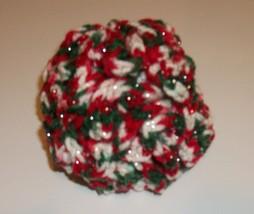 New Handmade Red Green White Glitter Crochet Brain Ball Dog Toy For Dog ... - £6.71 GBP