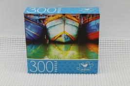 """Cardinal Jigsaw Puzzle Fishing Boats/Bateaux de peche 300 Piece 14"""" x 11"""" - $9.79"""