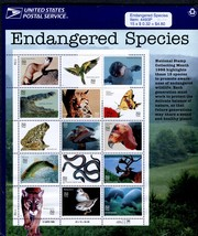 Sheet of 15 #3105 Endangered Species 32 cent stamp 1996 USPS sealed - $6.00