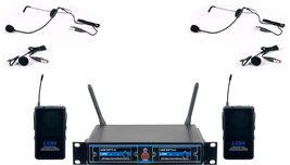 VocoPro UDHDUALB4 Pro Dual UHF/DSP Hybrid Wireless Microphone System - $149.00