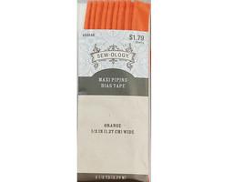 Hobby Lobby Sew-ology Maxi Piping Bias Tape, Orange #684548