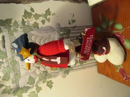 "Christmas Snowman Standing 18"" Plush Decoration - $15.95"