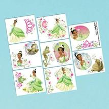 Tiana Enchanted Princess Frog Disney Birthday Party Favor Temporary Tattoos - $8.17