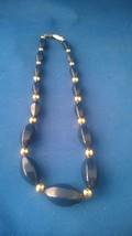 "Napier 17"" Dark Blue Necklace/Choker N-177 - $10.50"