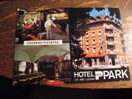 Locanda Ticinese Postcard - Vintage 1970's Hotel Park Zurich Luzern Swit... - $19.79