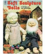 Soft Sculpture Dolls 11 Soft Fabric Dolls Pattern Book - $7.00