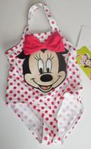 Disney Junior Girls 3-6 Months 1 Piece Minnie Mouse Bathing Suit Swimsui... - $14.84