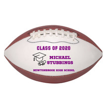 Personalized Custom Class of 2020 Graduation Mini Football Gift Purple Text - $34.95