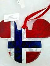 Disney World Epcot Norway Pavilion Mickey Ceramic Ornament, NEW - $30.00