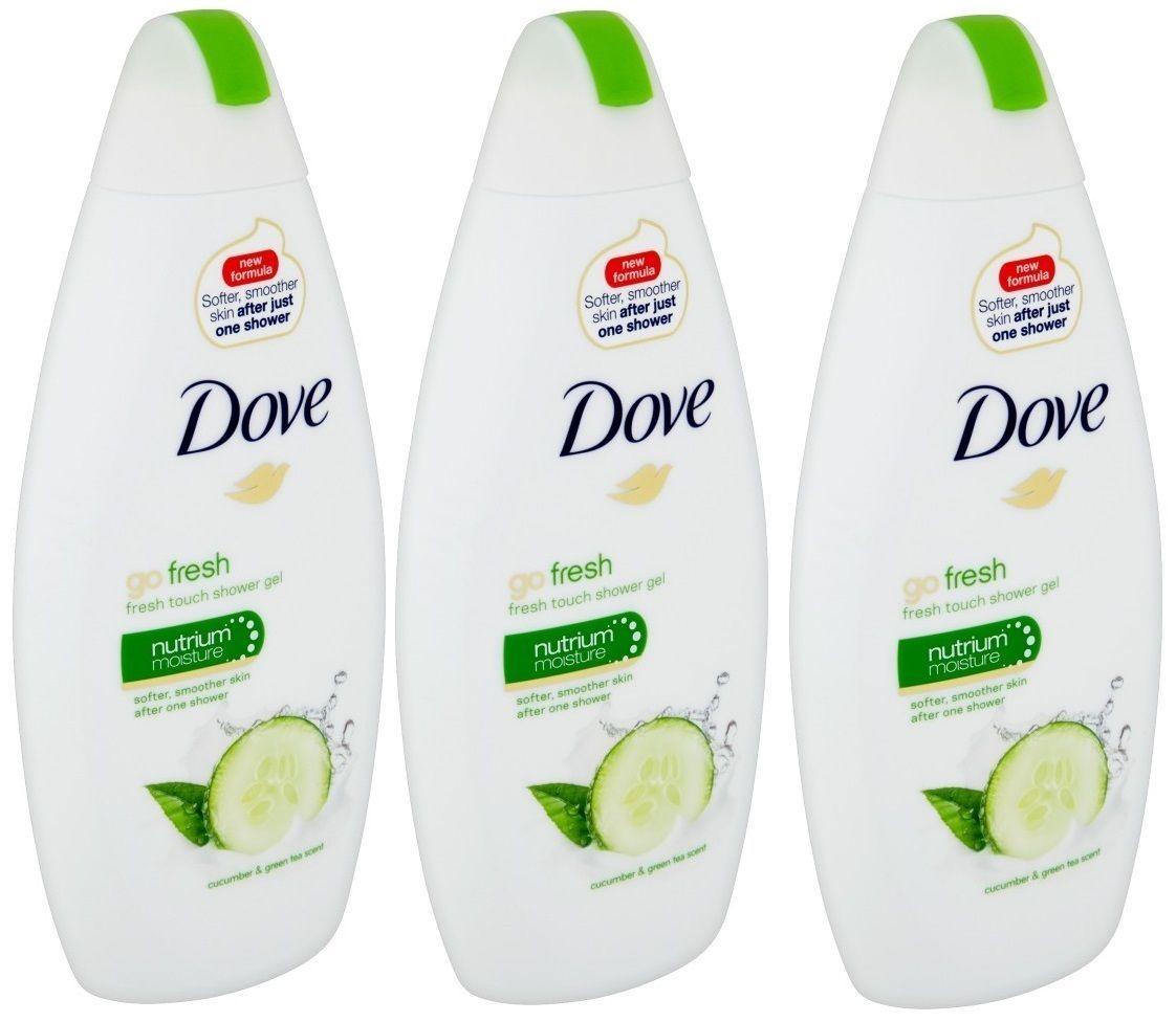 3x Dove Go Fresh Shower Gel Cucumber & Green Tea Scent Nutrium Moisture 16.9 Oz