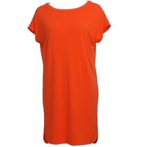 Ralph Lauren Orange Viscose Jersey Short Sleeve Shift Dress Xl - $64.99