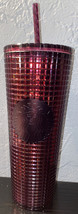 Starbucks Berry Plum Grid Disco Christmas Holiday 2020 Cold Cup Tumblr 2... - $37.99