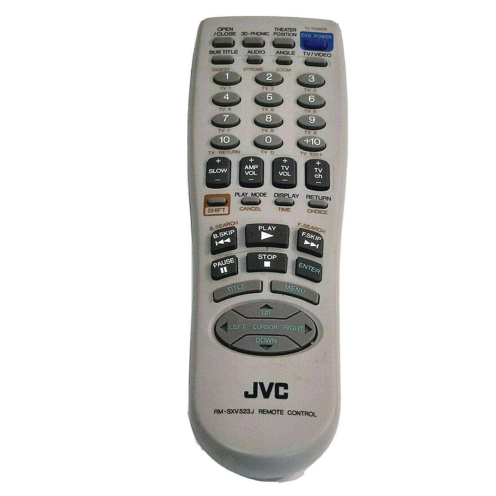JVC RM-SXV523J Original DVD Player Remote XV523GD XV5230GD XLR500BK XV52361D - $9.99