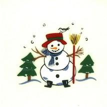 "Pfaltzgraff Snow Village Set of 8 Dinner Plates 11"" Stoneware Snowmen Santa Kids - $60.76"