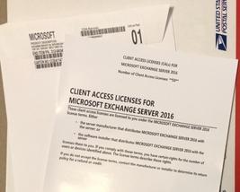 Microsoft Exchange Server 2016 Standard +10CALs Factory Sealed License P... - $399.00