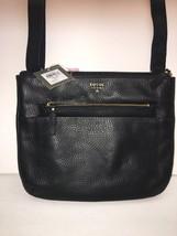 Fossil Crossbody Handbag Black Adjustable Strap Msrp $168 - $99.00