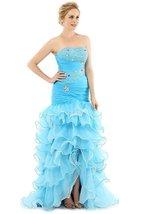 Long Mermaid Prom Dress Gown Light Blue 2018 Formal Evening Party Dress Cheap - $149.99