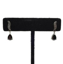 RJ Graziano Avon Sterling Silver Dark Garnet Dangle Earrings - $14.84