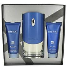 Givenchy Blue Label Cologne 3.3 Oz Eau De Toilette Spray 3 Pcs Gift Set - $120.99