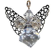 Crystal Angel with Gold Wings image 1