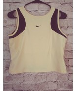 Women's Nike  Dri-Fit sleeveless support bra tank athletic top size large - $10.39
