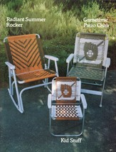 Vtg Macrame 14 Lawn Patio Beach Chairs Sailing Baseball Lounge Pattern B... - $18.99