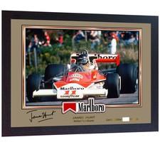 James Hunt signed autographed prinr photo Formula 1 FRAMED - $21.87