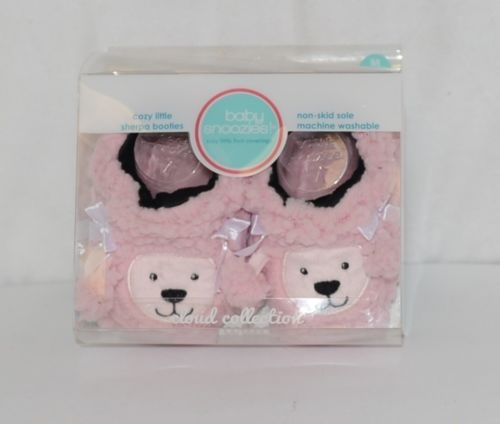 Baby Snoozies 1300Pood Pink Poodle Cozy Little Sherpa Booties Size 3 to 6 Months