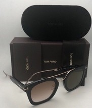 New TOM FORD Sunglasses ALEX-02 TF 541 01F 51-25 145 Black & Gold w/Brow... - $479.99
