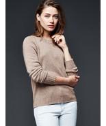 GAP Women's 100% Cashmere Crewneck Sweater, Color Mushroom Khaki, Size L... - $92.33