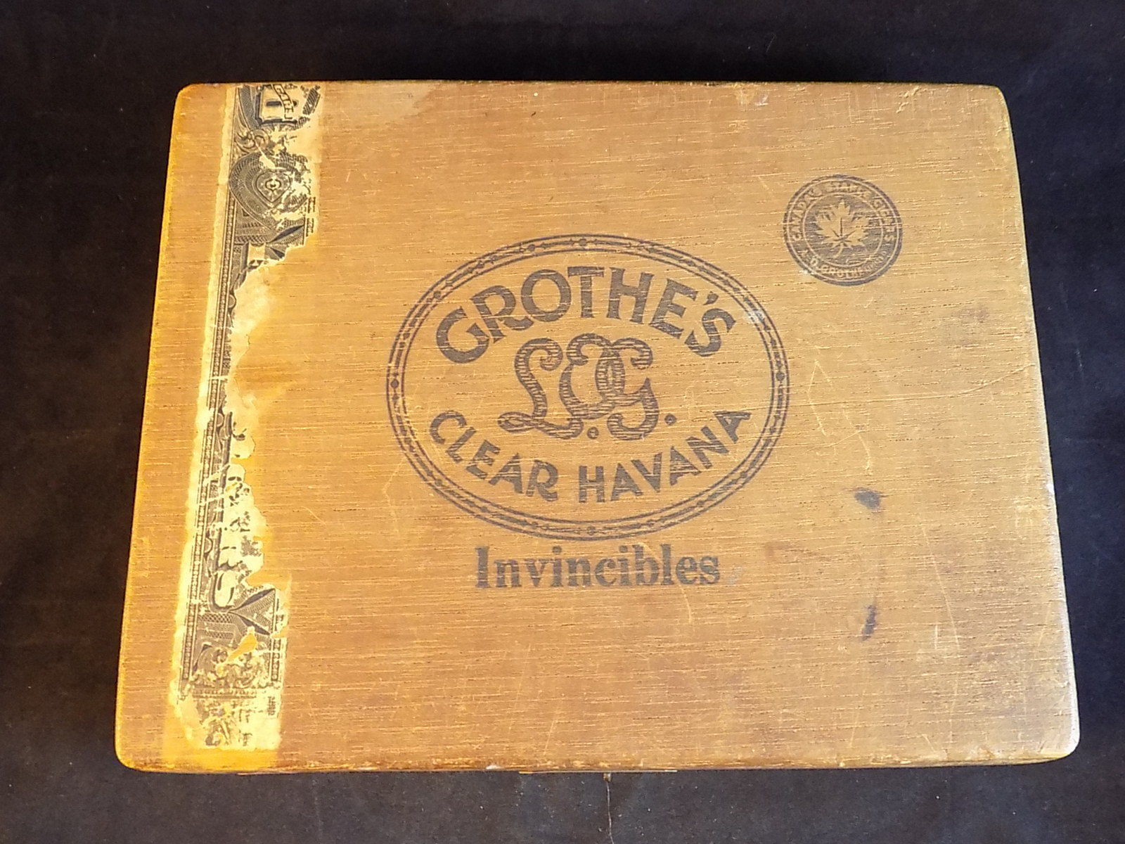 Vintage Wooden Cigar Box Grothes Clear And 50 Similar Items