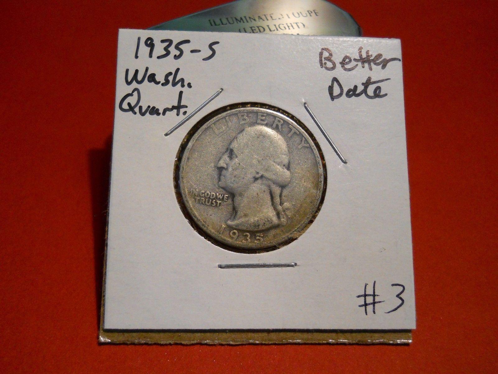 1935- S Washington Silver Quarter!!! Nice Coin!!! 90% Silver!!!