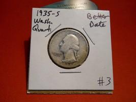 1935- S Washington Silver Quarter!!! Nice Coin!!! 90% Silver!!! - $6.05