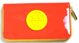 New Tory Burch Peach/Yellow Patent Leather Wallet - £82.62 GBP