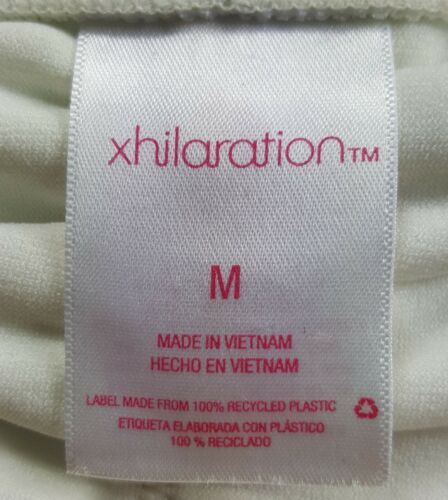 Xhilaration Medium Off White Textured Open Side Bathing Suit Bikini Bottoms