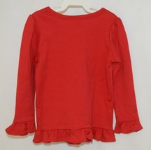 Blanks Boutique Girls Red Long Sleeve Ruffle Tee Shirt Size 2T image 2
