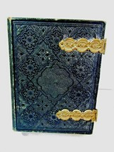 LEATHER BOOK ALBUM VINTAGE TIN TYPE PHOTOS LARGE 23 PAGES FOR REPAIR AS IS - $85.00