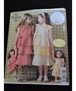All Dolled Up Made to Match Girls Dolls Dresses Sewing Pattern Ellie Mae... - $8.99