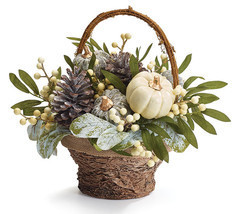 FALL ARRANGEMENT WITH FROSTED PUMPKINS - $46.00