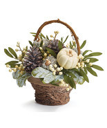 FALL ARRANGEMENT WITH FROSTED PUMPKINS - £35.71 GBP