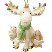Lenox 2015 Marcel Moose Ornament Figurine Annual Merry Choir Bunny Chris... - $241.56