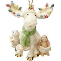 Lenox 2015 Marcel Moose Ornament Figurine Annual Merry Choir Bunny Christmas NEW - $241.56