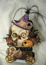 Bethany Lowe Skeleton Steampunk Halloween Treat Candy Container image 1