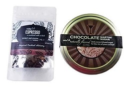 Rokz Espresso Spirit Infusion and Chocolate Martini Sugar Combo Set
